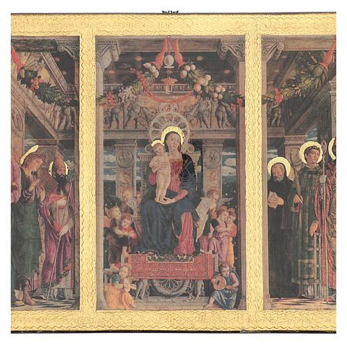 Quadro Trittico Mantegna stampa su legno 45x70 cm 2