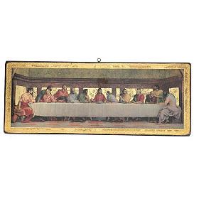 Quadro cenacolo Andrea del Sarto 30x76 cm s1