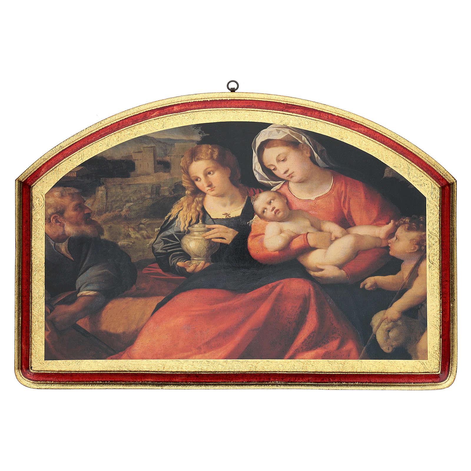 Quadro Santa Famiglia con San Giovannino 40x60 cm 3