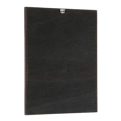 Cuadro impresa de maderas de Santos 20x25 cm 2
