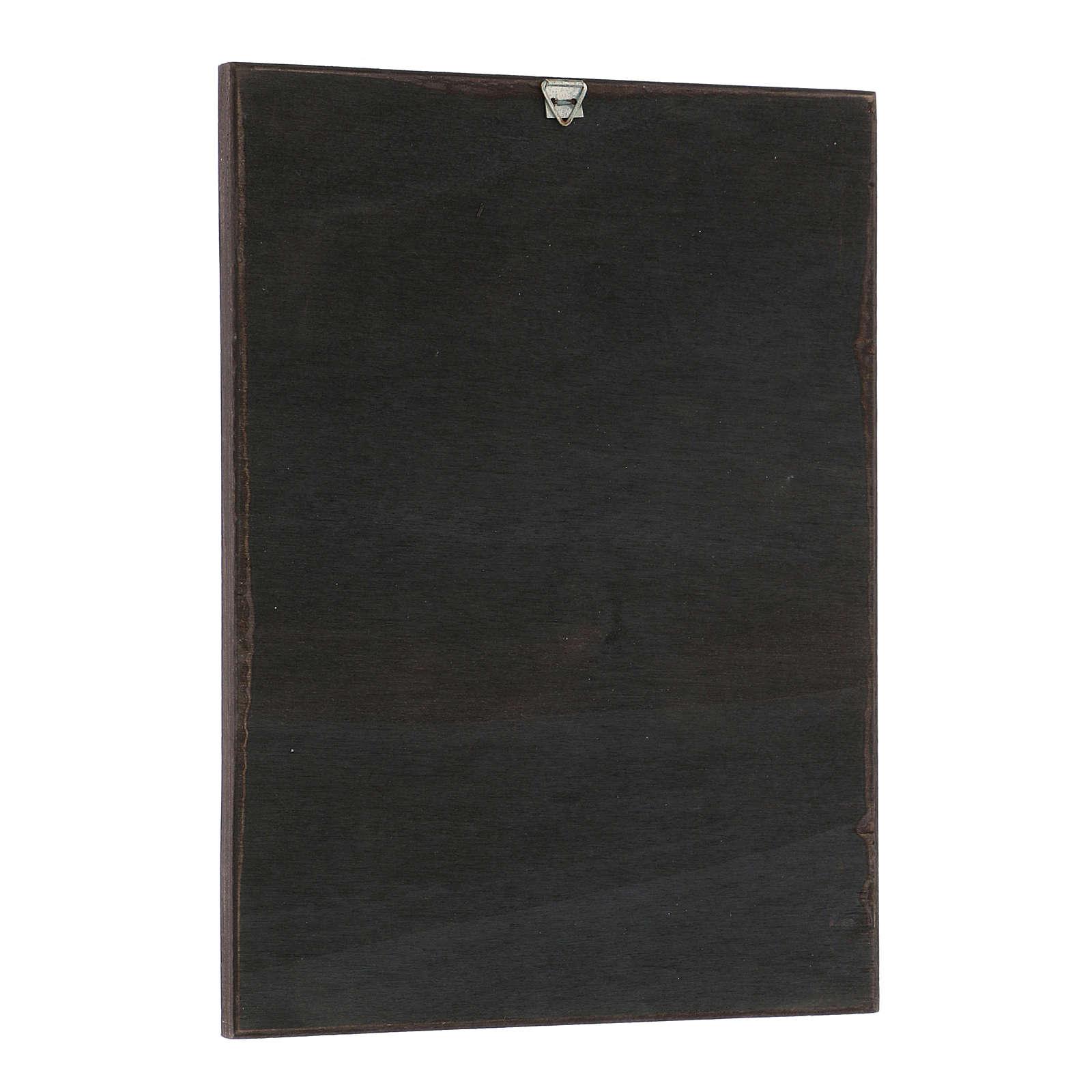 Quadro stampa in legni di Santi 20x25 cm 3