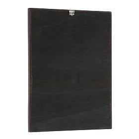 Quadro stampa in legni di Santi 20x25 cm s2