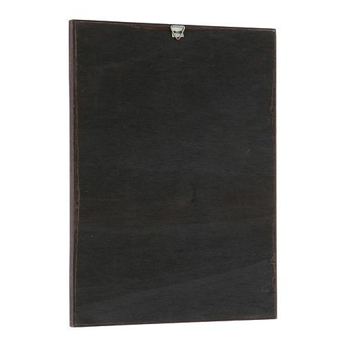Quadro stampa in legni di Santi 20x25 cm 2