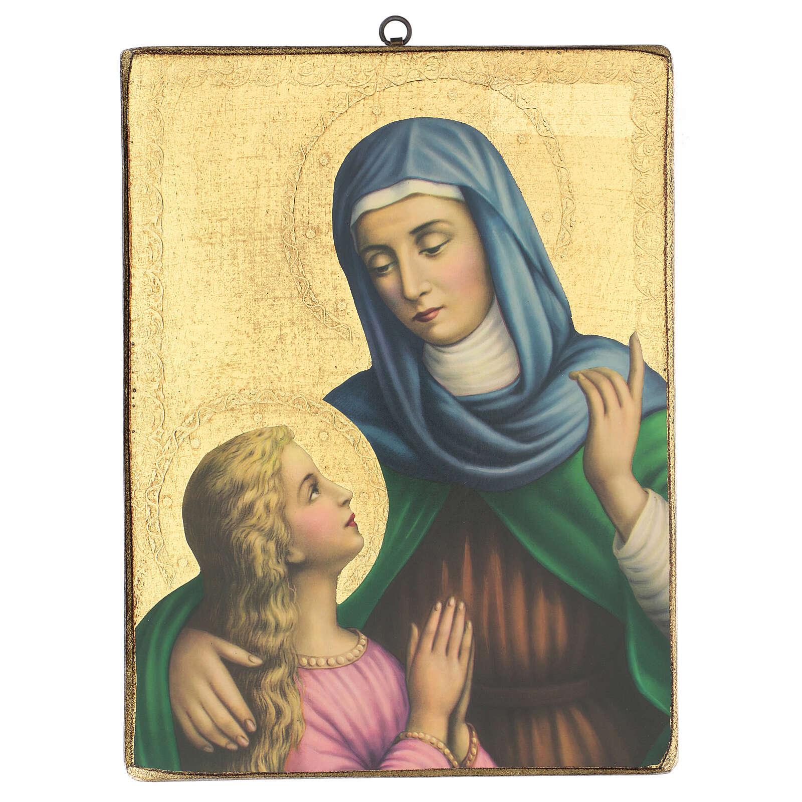 Cuadro impresa Santa Ana 35x25 cm 3