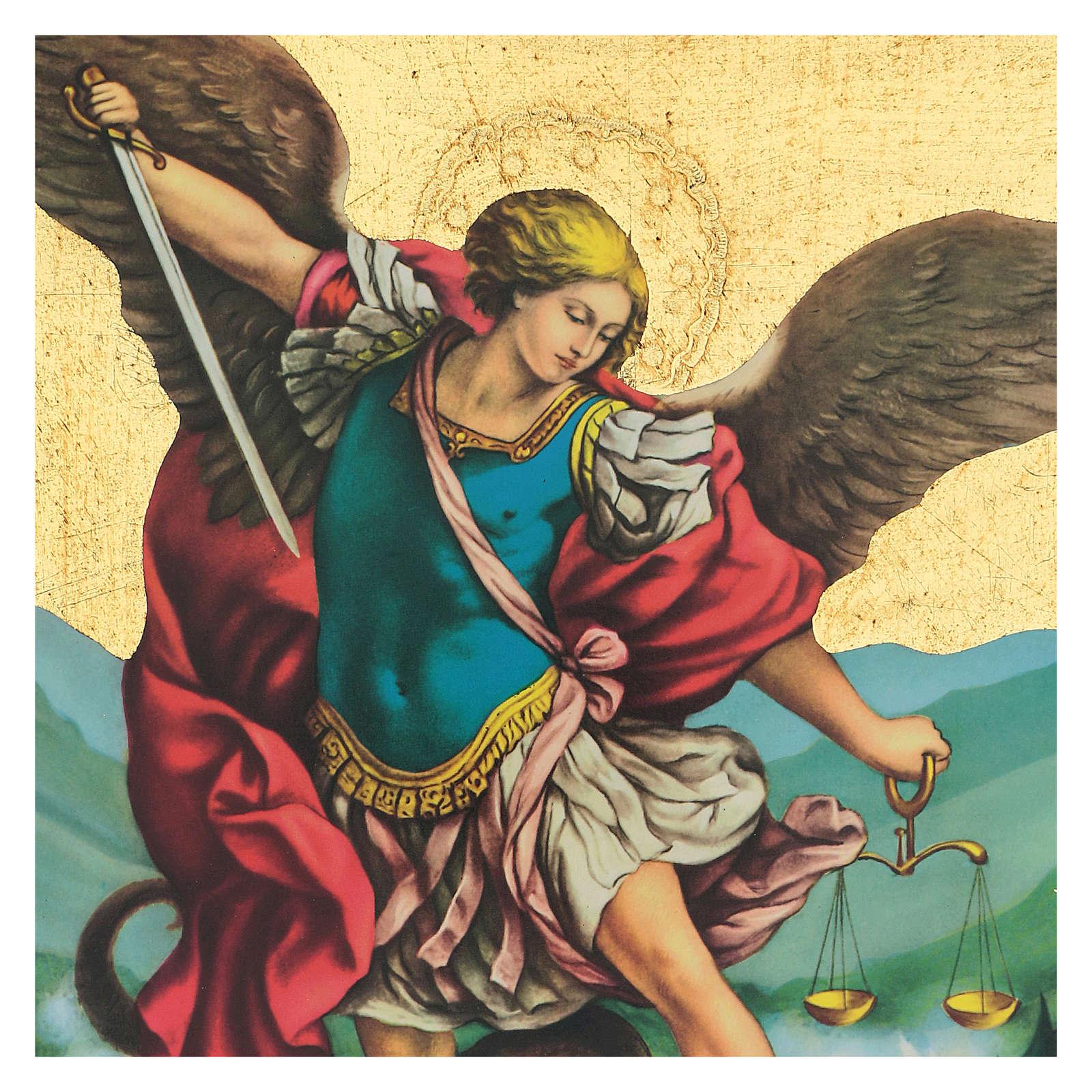 Quadro stampa San Michele 35x25 cm 3