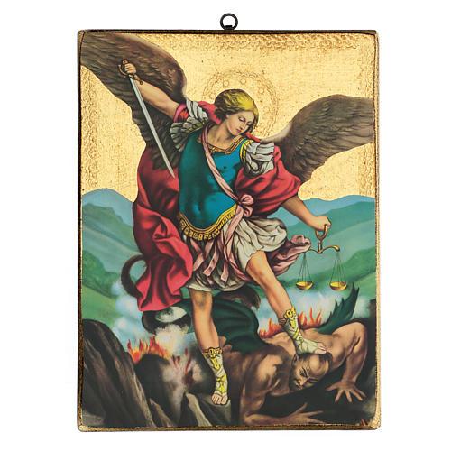 Quadro stampa San Michele 35x25 cm 1