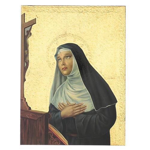 Cuadro impresa Santa Rita 30x25 cm 1