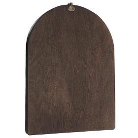 Quadro stampa su legno Madonna del Cardellino 35x25 cm s3