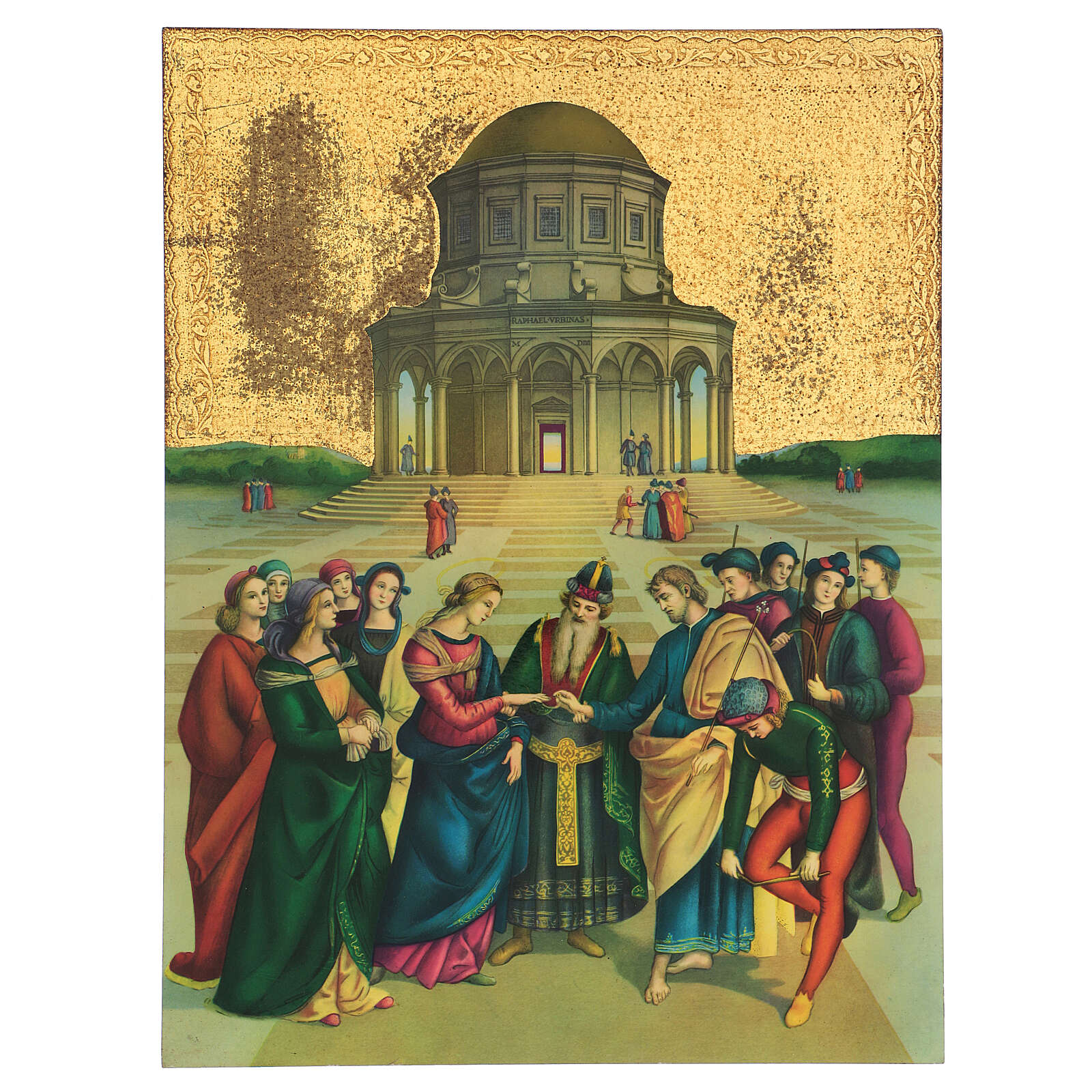 Painting of the Weddinf of the Virgin Mary 40x30 cm 3