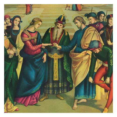 Cuadro impresa Boda Virgen María 40x30 cm 2