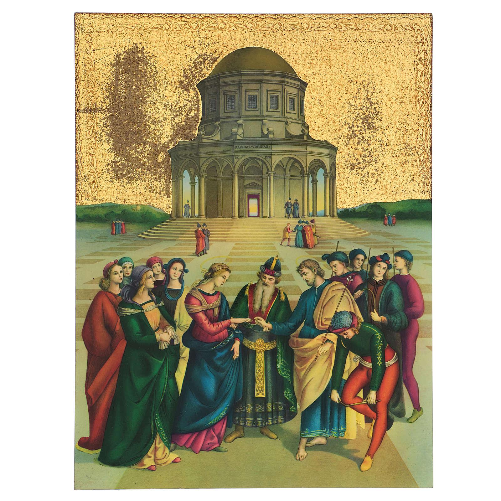 Quadro stampa Sposalizio Vergine Maria 40x30 cm 3