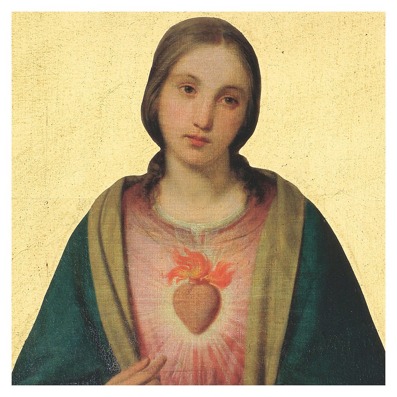Cadre impression Coeur Immaculé de Marie 40x30 cm 3