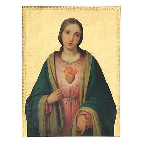Quadro stampa Sacro Cuore Vergine Maria 40x30 cm s1