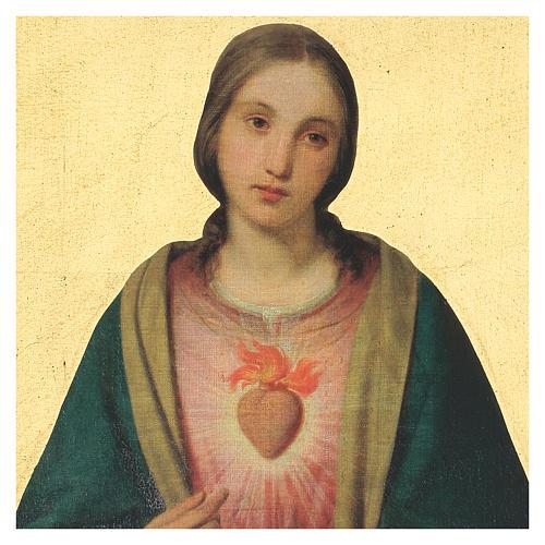 Quadro stampa Sacro Cuore Vergine Maria 40x30 cm 2