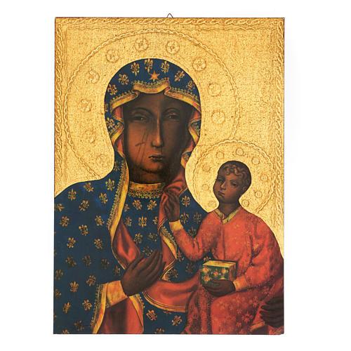 Quadro stampa Madonna Czestochowa 35x25 cm 1
