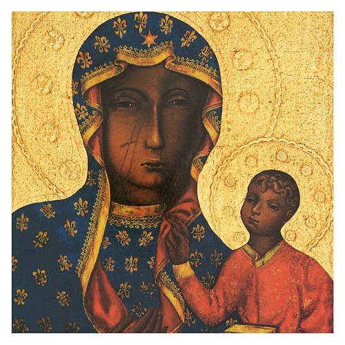 Quadro stampa Madonna Czestochowa 35x25 cm 2
