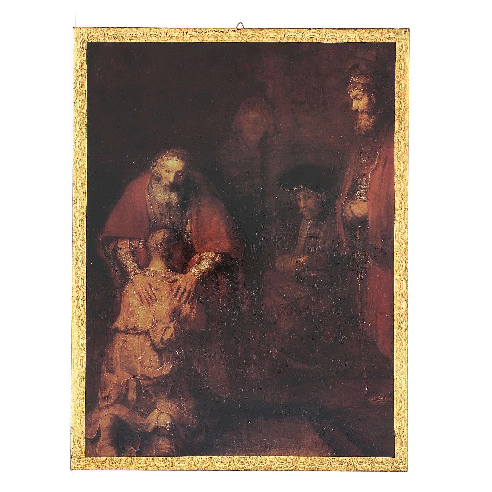 Quadro stampa Figliol Prodigo 35x25 cm 3