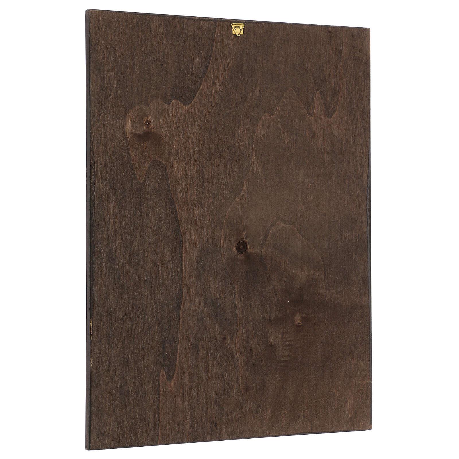 Cuadro impresa madera Virgen del Jilguero 35x25 cm 3