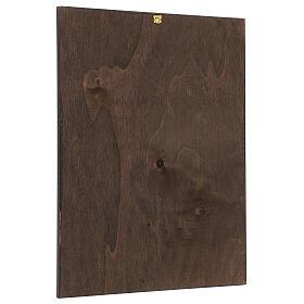 Cuadro impresa madera Virgen del Jilguero 35x25 cm s3