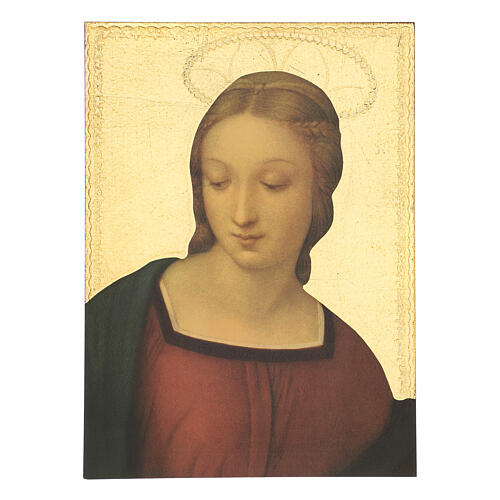 Cuadro impresa madera Virgen del Jilguero 35x25 cm 1