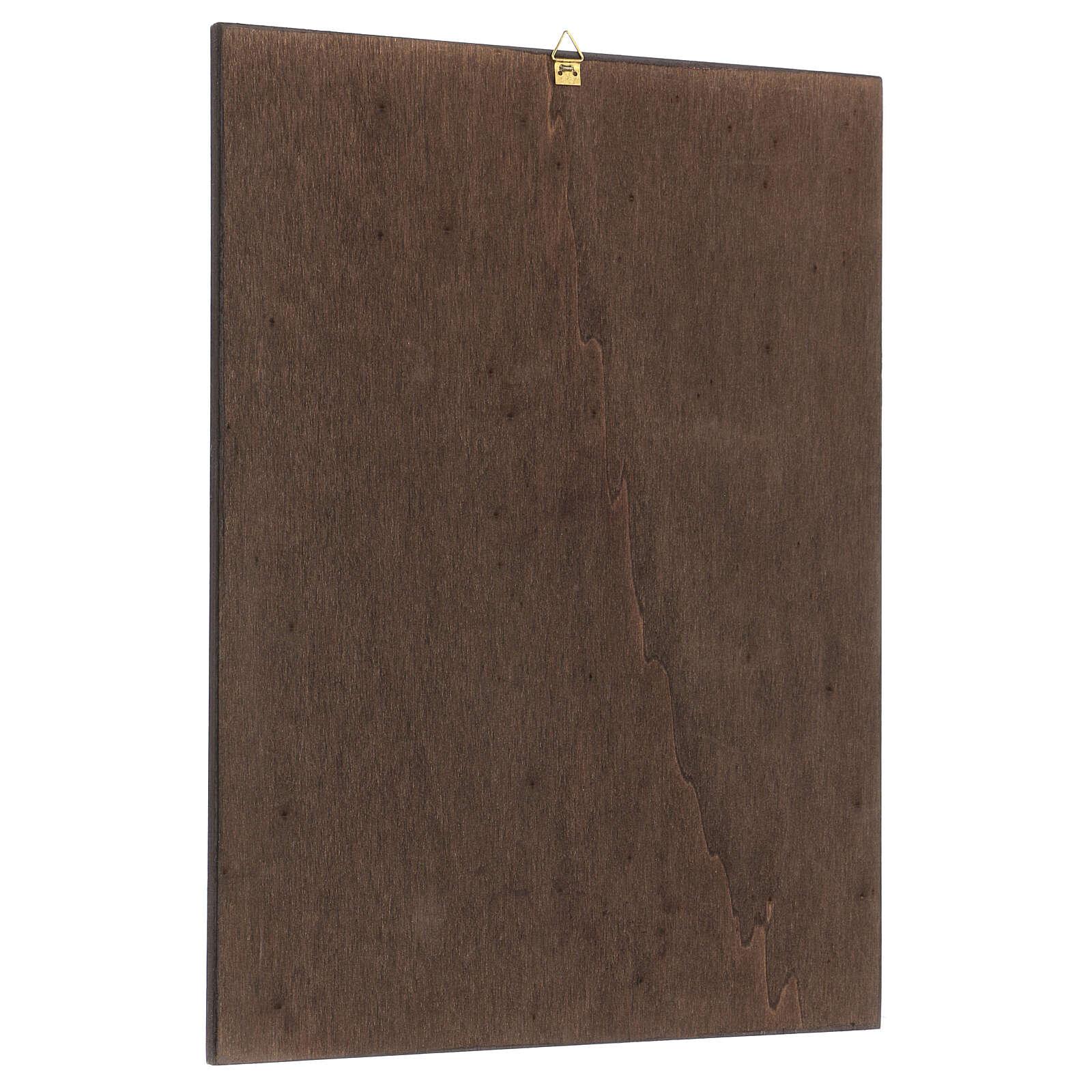Wooden picture St. Rita 37x27 cm 3
