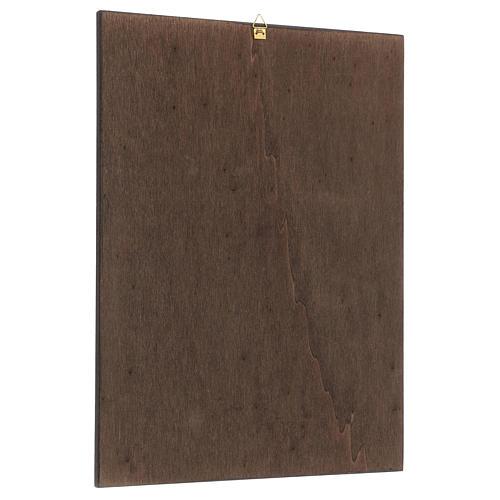 Quadro stampa in legno Santa Rita 35x25 cm 3