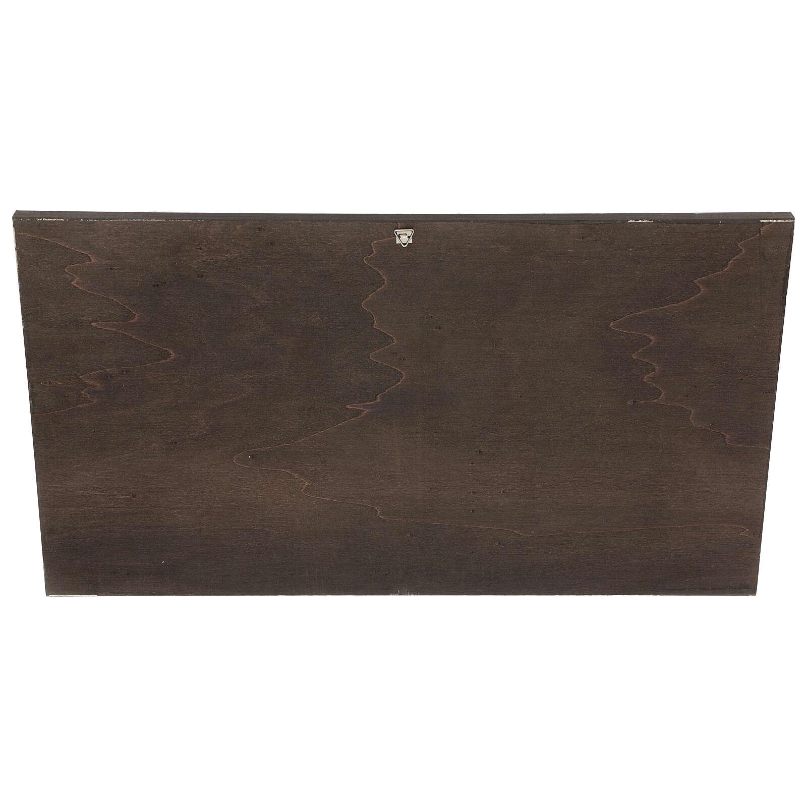 STOCK Cuadro de madera  ángeles Rafael con marco 25x50 cm 3