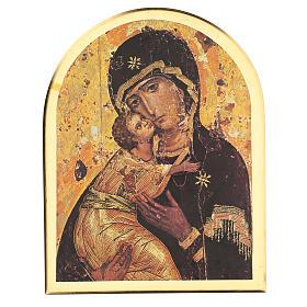 STOCK Stampa in legno Madonna di Vladimir 35x25 cm s1