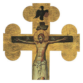 Cuadrito en forma de cruz de lámina de cerámica 25x20 cm s2