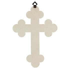 Cuadrito en forma de cruz de lámina de cerámica 25x20 cm s3