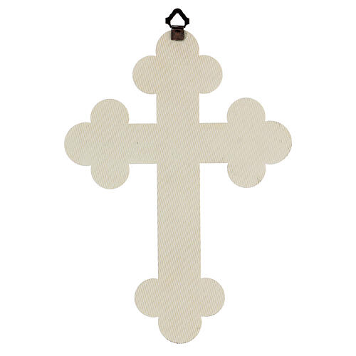 Cuadrito en forma de cruz de lámina de cerámica 25x20 cm 3