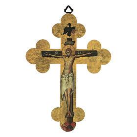 Quadretto a croce in lamina di ceramica 25x20 cm s1