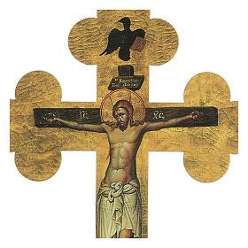 Quadretto a croce in lamina di ceramica 25x20 cm s2