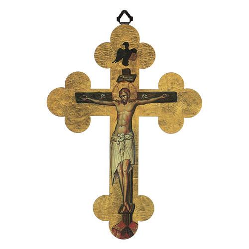 Quadretto a croce in lamina di ceramica 25x20 cm 1