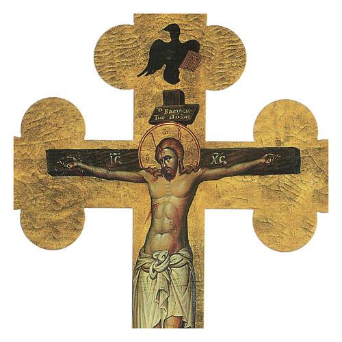 Quadretto a croce in lamina di ceramica 25x20 cm 2