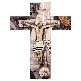 Croce mosaico terracotta 30x25 cm s1