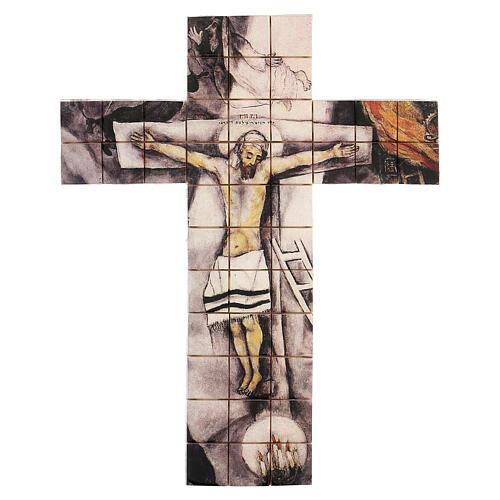 Croce mosaico terracotta 30x25 cm 1