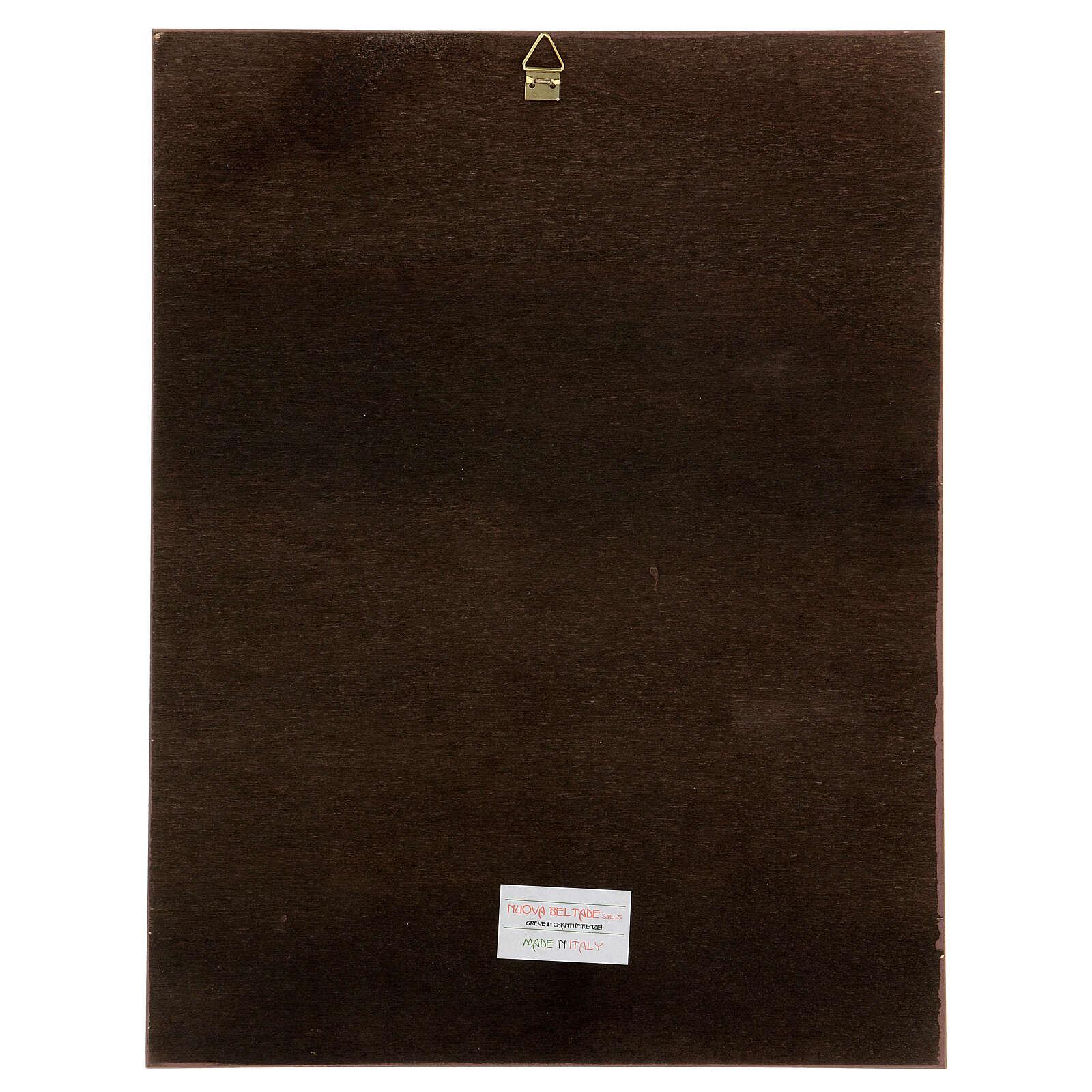 Cuadro impresa madera Dolorosa de Carlo Dolci 30x25 3
