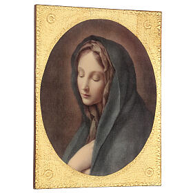 Cuadro impresa madera Dolorosa de Carlo Dolci 30x25 s3