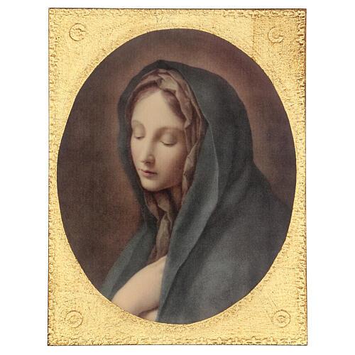 Cuadro impresa madera Dolorosa de Carlo Dolci 30x25 1
