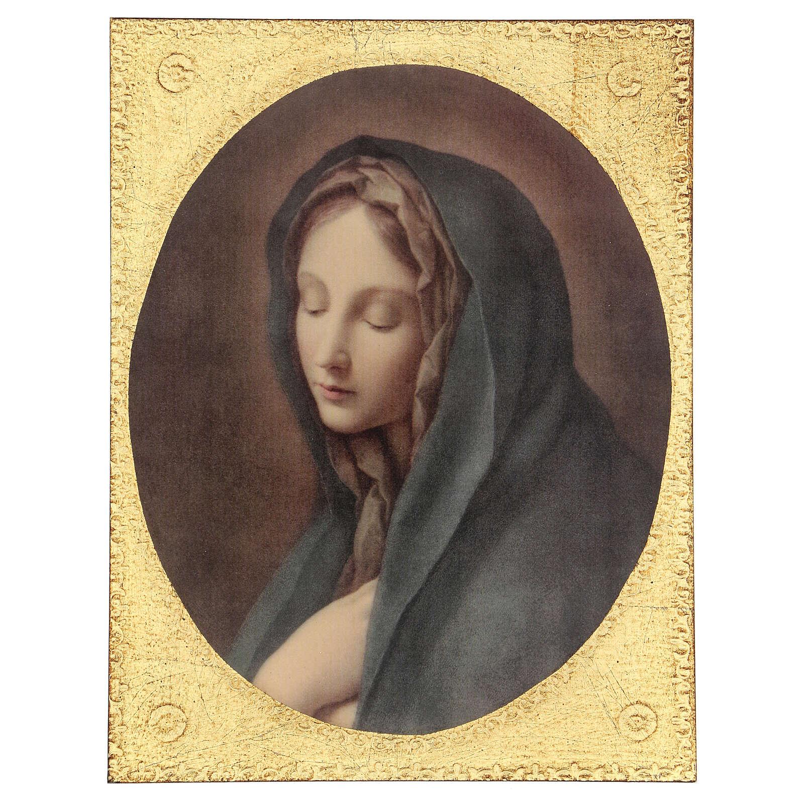 Cadre impression bois Notre-Dame des Douleurs de Carlo Dolci 30x25 cm 3