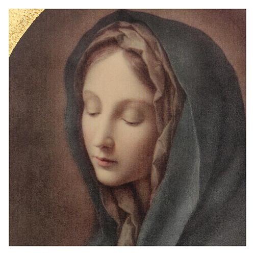 Quadro stampa legno Addolorata di Carlo Dolci 30x25