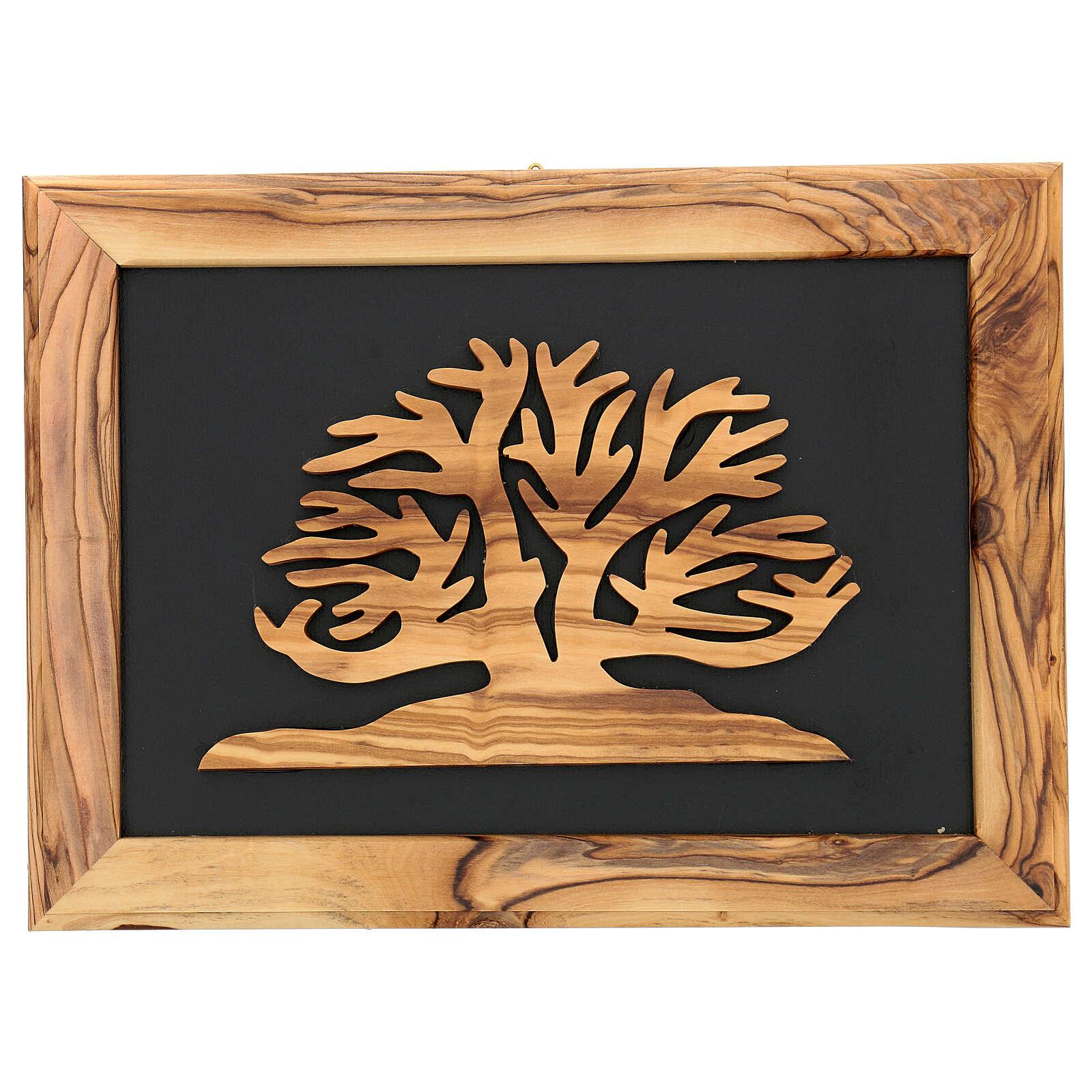 Rahmen aus Olivenholz Baum des Lebens, 18x25 cm 3