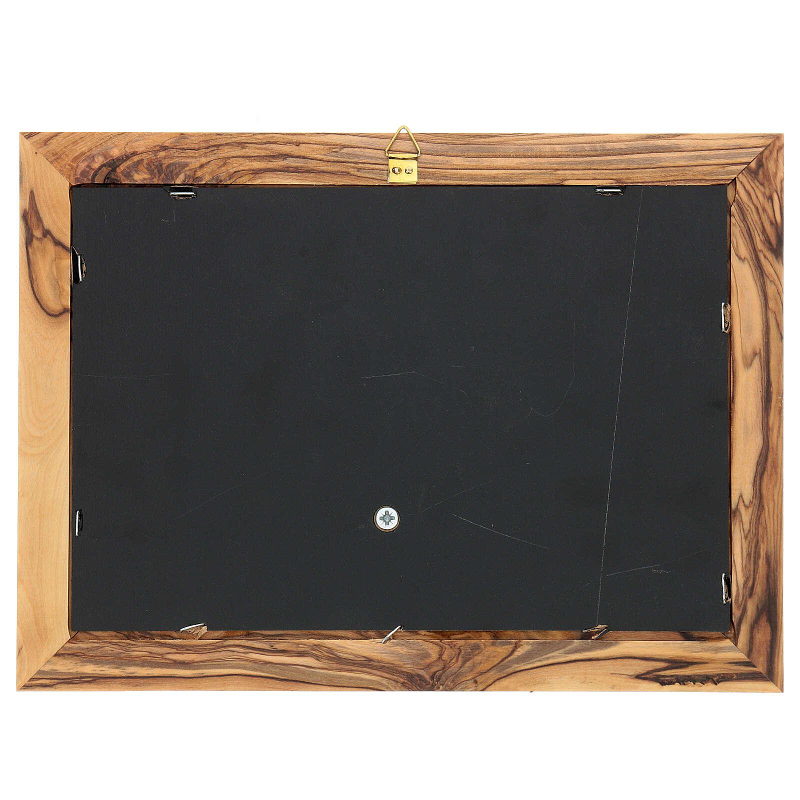 Cornice Albero della Vita ulivo Palestina 18x25 cm 3