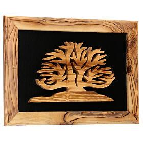 Cornice Albero della Vita ulivo Palestina 18x25 cm s3