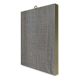 Estampa sobre placa de madeira Santa Rita de Cássia caixa para presente 25x20 cm