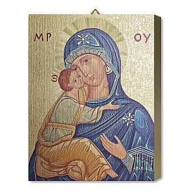 Notre-Dame de Tendresse tableau en bois avec boîte cadeau 25x20 cm