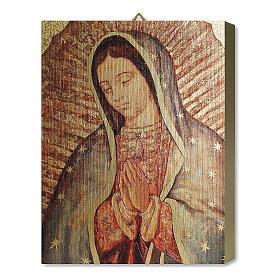 Tavola Lignea Madonna Guadalupe Scatola Regalo 25x20 cm
