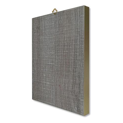 Notre-Dame du Perpétuel Secours tableau en bois boîte cadeau 25x20 cm