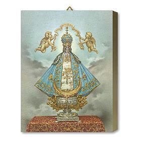 Notre-Dame de San Juan tableau en bois boîte cadeau 25x20 cm